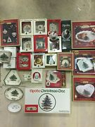 Lot 31 Spode Christmas Tree Plate Dish Spoon Bowl Ornament And Much More