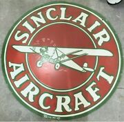 Porcelain Sinclair Aircraft Enamel Sign 30 Inches Double Sided
