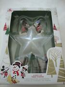 Disney Christmas Holiday 2019 Mickey And Minnie Mouse Light Up Tree Topper - New