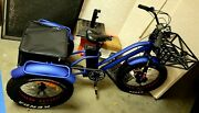 Fat Tire Electric Trike Tricycle 500w 25ah 48 Volt 20 Mph High Capacity Battery