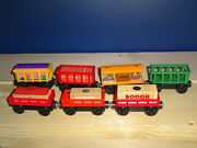 12 Pieces. Thomas And Friends Wooden Train Zoo Circus And Cargo Cars And Cargo