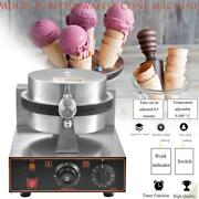Commercial Electric Non Stick Ice Cream Waffle Cone Baker Maker Egg Roll Machine