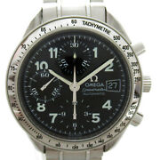 Omega Speedmaster Date Chronograph Wrist Watch 3513.52 Automatic Ss Used Mens