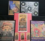 Music Memorabilia Collection - Concert Tickets And Passes Records Posters And More