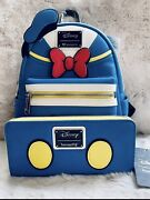 Loungefly Disney Donald Duck Mini Backpack And Wallet Bnwt
