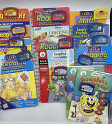 Leap Frog Leap Pad Learning System Lot Of 12 Books And Cartridges
