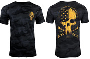 Howitzer Style Menand039s T-shirt Liberty Or Death Black Camo Military Grunt