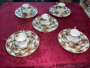 1962 Royal Albert Old Country Roses Fine China Dinnerware 5 Place Settings 💗