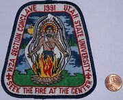 Bsa W2a Section Conclave 1991 Utah State Unviversity Seek The Fire Patch Rare
