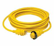 Marinco 6153spp 50a 125v 3 Wire Marine Shore Power Cable 50and039 Yellow+free Ship