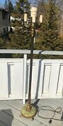 Antique Green Onyx And Brass Floor Lamp Mutual Sunset Lamp Company 4039b 4 Way 1