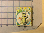 Vintage Original Toy-- Paper Litho Wooden Book -- No Manuf Name Love The Cat
