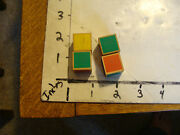 Vintage Puzzle 4 Wooden Cube Painted Sides, I Think You Stack Them W/ Differant