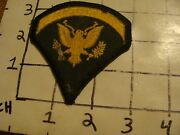 Original Vintage Patch Green And Yellow W Eagle