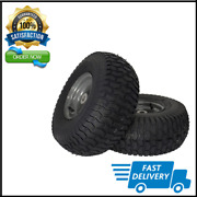 2 Riding Lawn Mower Front Tire Turf Saver Tread Craftsman Replacement 15x6.00-6