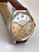 New Rare Schaffhausen Portuguese Mop Marriage 47 Mm All Steel Limited Watch