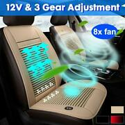 Car Seat Cushion Cooling Cover With Built-in Fan Air Ventilated Pad Chair Cooler