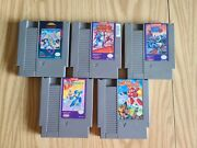Mega Man 1, 2, 3, 4, And 6 Authentic, Tested And Working With Cases.