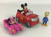 Disney Mickey Mouse And The Roadster Racers Hot Rod Minnie Pink Thunder Cars Duck