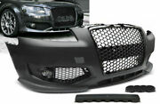 Rs Style Front Bumper For Audi A3 05-08 With Honeycomb Grill And Fog Lights