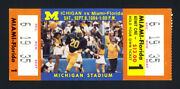 1984 Michigan Wolverines Beat 1 Miami Hurricanes 22-14 Complete Ticket Sellout+