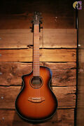 Breedlove Discovery S Concert Edgeburst Ce Left-handed Acoustic-electric Guitar