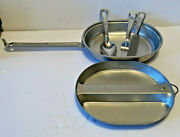 Vintage Us Army Wyott Aluminum Mess Kit With Utensils