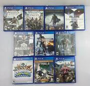 10x Ps4 Video Games Madden 18, Shadow Of Mordor, Murdered, Assassins Creed, More