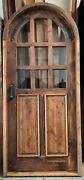 Rustic Reclaimed Lumber Arched Top Door Solid Wood Story Book Winery Glass Grids