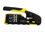 Klein Tools Vdv226110 Ratcheting Cable Crimper/ Stripper/ Cutter For Pass-thru