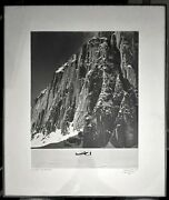 Authentic 1955 Bradford Washburn Don Sheldon In The Great Gorge Photograph