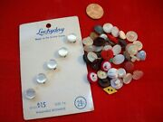 Vtg Doll/ Baby Buttons Fantastic Large Lot Glass Pearl Rhinestone Etc