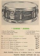 6 1/2 X 15 Tower Rogers Snare Drum