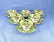 Vtg Demitasse Ucagco China - Made In Occupied Japan Tea Cup And Saucer Set