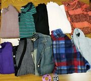 10 Pc Lot Of Womens Sweaters/tops M