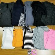 10 Pc Lot Of Womens Sweaters/shrugs S