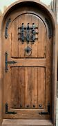 Rustic Reclaimed Lumber Arched Door Solid Wood Story Book Castle Winery Hardware