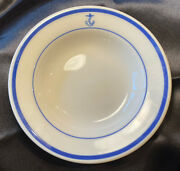 """Homer Laughlin Fouled Anchor - Us Navy Wardroom Cereal Bowl 6 7/8"""" - Outlet New"""