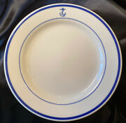 """Homer Laughlin Fouled Anchor - Us Navy Wardroom Dinner Plate 10"""" - Outlet New"""