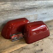Brand New Oem 17+ Ford Super Duty Painted To Match Mirror Caps - Ruby Red