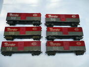 6 Vintage All Nation O Scale 2 Rail New York Central Pacemaker 40` Boxcar