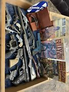 1920andrsquos - 1980andrsquos Vintage Lot Of 19 Toy Guns Some For Parts