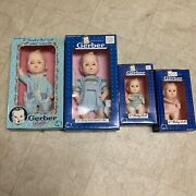 """Gerber Baby Doll 6"""" And 11"""" Lot Of 4"""