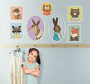 Oopsy Daisy Fine Art For Kids Pretty Portrait Animals Peel And Place Sticker ...