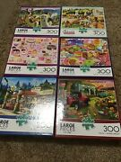 Lot Of 6 - Buffalo Large Piece Puzzles - No Missing Pieces
