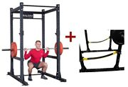 Body-solid Spr1000ss Commercial Power Rack W/power Rack Strap Safeties New