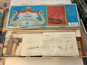Vintage Rare Nos New In Box Large Wooden Tall Ship Model Kit Le Mirage Italy