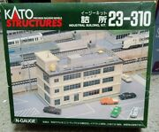 Kato Structures 23-310 N Scale Industrial Building Kit, Ready For Your Layout