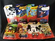Disney Hot Wheels Mickey Mouse Complete Set Of 8 2017