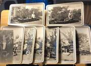 A Boy And His Toys 9 Large Photos Dated 1929 Pedal Cars Trains Tin Toys